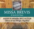 MISSA BREVIS di Jacob de Haan, Bagolino (BS)