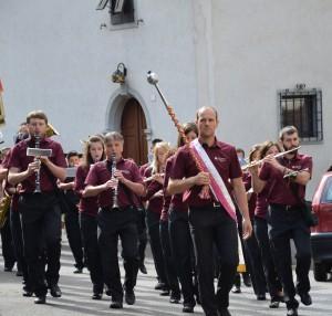 La Banda Musicale di Pieve di Bono in sfilata
